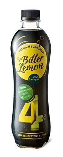 Sodapop PREMIUM ESSENCE - Soda Sirup in der 500ml PET-Flasche, Bitter Lemon
