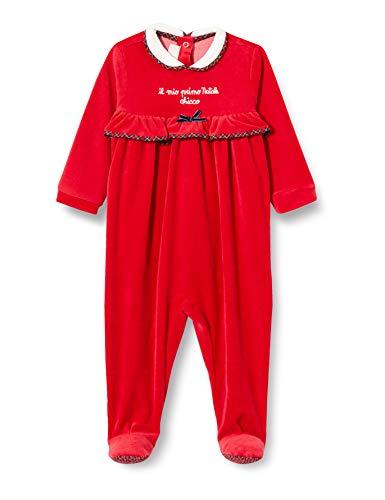 Chicco Tutina con Apertura sul patello Pigiamino per Bambino e Neonato, Rosso, 056 Bimba