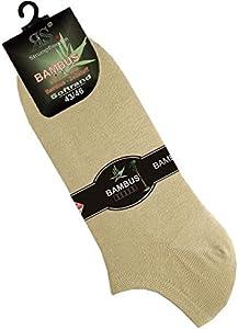 """'Calcetines Pur Harmony viscosa Zapatillas """"bambú 3Pack Multicolor beige"""