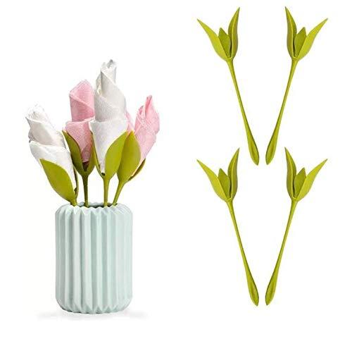 18 Pezzi Portatovaglioli Creativo Fiore Portatovaglioli per Tavoli Portatovaglioli a Forma di Fiore Bloom Flower Napkin Holder per Decorazione della tavola Portatovagliolo per Feste in Famiglia