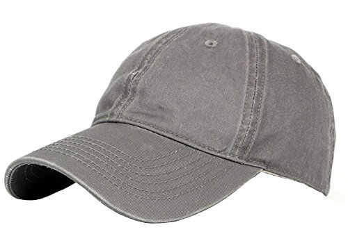 Leisial Gorra de Béisbol con Algodón Ocio Sombrero de Sol al Aire Libre Deporte Hats Hip-Hop Verano para Hombre Mujer,Gris (Color - 1)