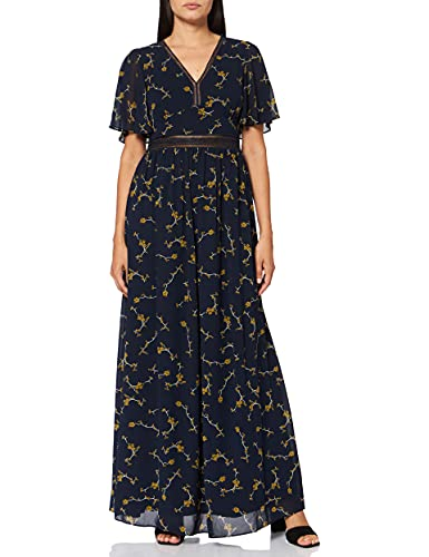 APART Fashion damska sukienka z szyfonu z nadrukiem