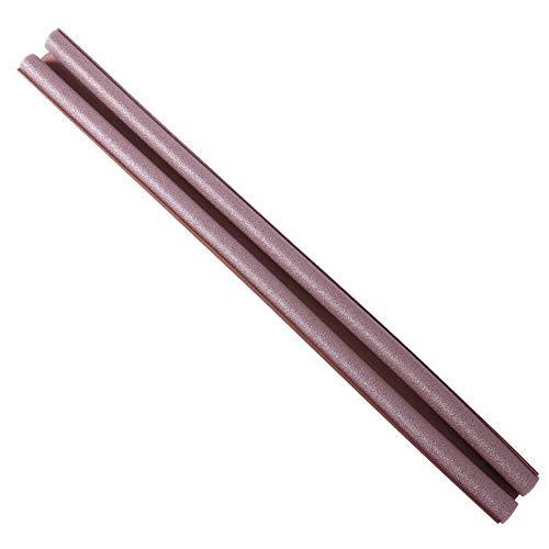 BEI&YANG 93 * 10 cm Türunterer Dichtungsstreifen Zugluftschutz Stopper Schallschutzstreifen Geräuschreduzierung Türbodenunterdichtung Wetterzugschutz-Braun