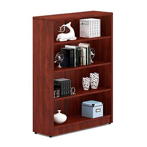 Sunon Collection 4-Shelf Wood Bookcase