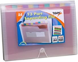 Tiger A4 Rainbow Expanding File, 13-Part with Elastic Closure