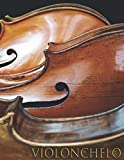 VIOLONCHELO: Cuaderno de música para violonchelista - Violonchelo - Libro de partituras - Papel manuscrito - Música clásica - 17 pentagramas por página - 111 páginas - Gran formato
