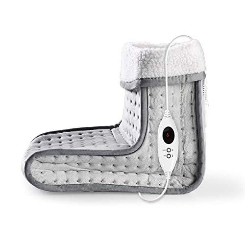 TronicXL Heizdecke Fußwärmer 6 Heizstufen Abwaschbar Digitale Steuerung Überhitzungsschutz Füße Fuß Wärmer