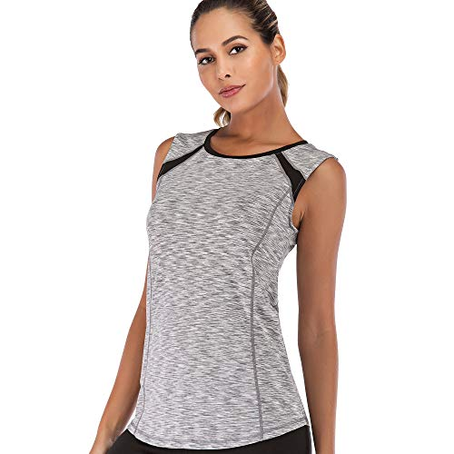 Women Sleeveless Yoga Top Moisture Wicking Athletic Shirts Quick Dry Fitness Workout...