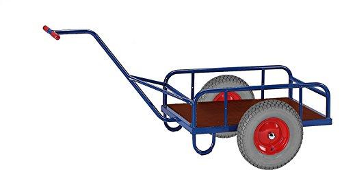Rollcart 14-1290 1-Achs Handkarre ohne Bordwand, RAL5010 enzianblau