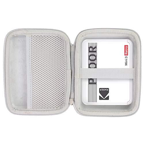 Khanka Hartschalen-Reisekoffer kompatibel mit Kodak Mini 3 Retro/Kodak Mini Shot 3 Square Sofortdrucker und Kamera (grauer Reißverschluss)