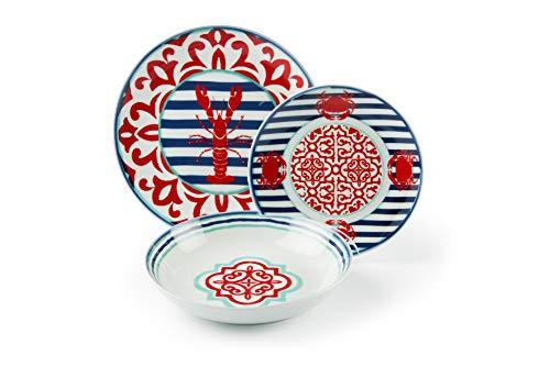 Excelsa Boston - Vajilla de 18 piezas de porcelana