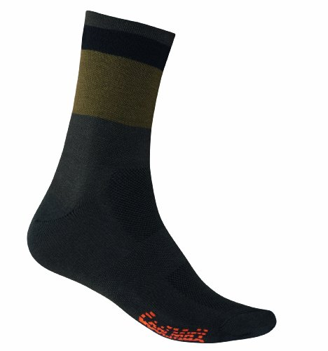 Giro Fahrradsocken Coolmax High-Rise Socken, Charcoal/Army/Black Modern, S