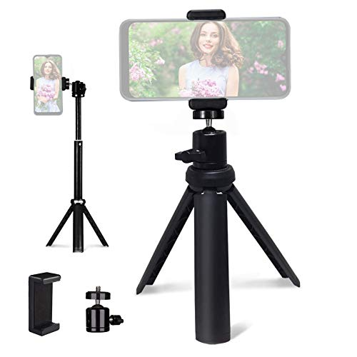 Lightweight Mini Tripod for Camera/Phone/Webcam, NexiGo Extendable Tripod Stand Compatible with NexiGo Logitech Webcam C920 C922 Brio iPhone/Android/Camera, for Vlogging, Live Streaming, Zoom Meeting