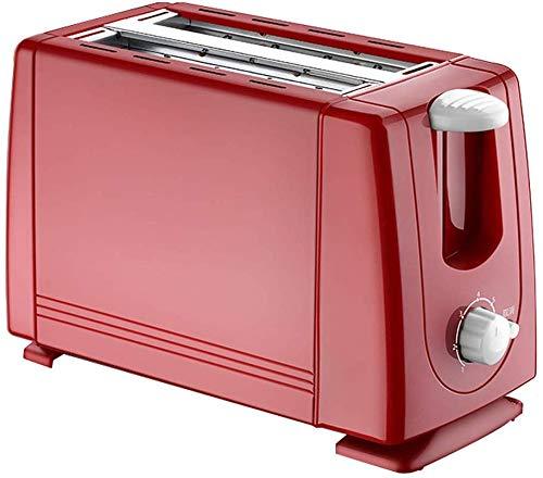 RENXR 2 Scheiben Toastbackofen Automatischer Toaster Elektrischer Spucktreiber Haushalt Mini Frühstücksmaschine Zwei Slots Brotbackautomat,Rot