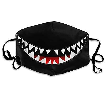 Belindaa Shark's Smile Teeth Windproof Face Mask UV for Dust, Unisex Outdoors, Sports Mask for Women Men White