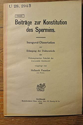 Beiträge zur Konstitution des Spermins.