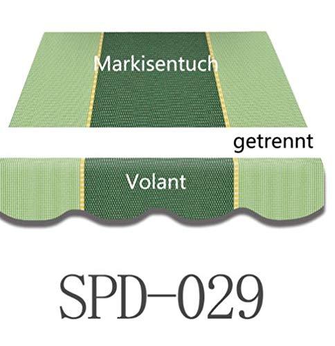 Home & Trends Markisen Tuch Markisenbespannung Ersatzstoffe Maße 3 x 2.5 m Markisenstoffen mit Volant fertig genäht mit Umrandung (SPD029)
