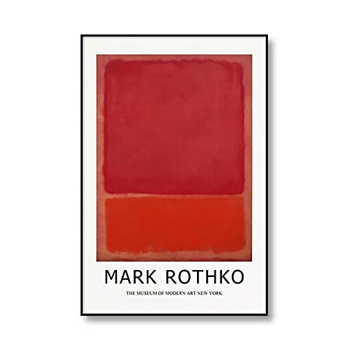 Póster de exposición famoso de MARK ROTHKO abstracto, pintura en lienzo, impresión familiar, pintura decorativa sin marco, Q-5, 50x75cm
