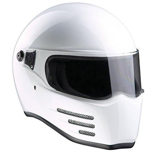 Bandit Helmets Fighter ECE 22-05,geprüft,GFK,Fiberglas,Motorradhelm, Sports-Farbe:White, Größe:S(55/56)