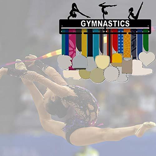 Knowled Soporte de pared para medallas de gimnasia, soporte para medallas de gimnasia, soporte para medallas, soporte de exhibición de hierro para colgar en la pared