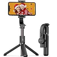 【3-in-1 Gimbal Stabilisator】Kombinieren Sie die 3 Funktionen des Selfie-Sticks, des Gimbal-Stabilisators und des Handyständers. Es eignet sich zum Aufnehmen von Selfies, Aufnehmen von Videomaterial, Video-Chats und zum Ansehen von Fernsehen oder Film...