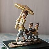 adornos para salon modernos Decoraciones de elfos del bosque,decoraciones de resina pintadas a mano,regalos de dibujos animados,decoraciones diarias para el hogar,Navidad,Día de San Valentín,etc.