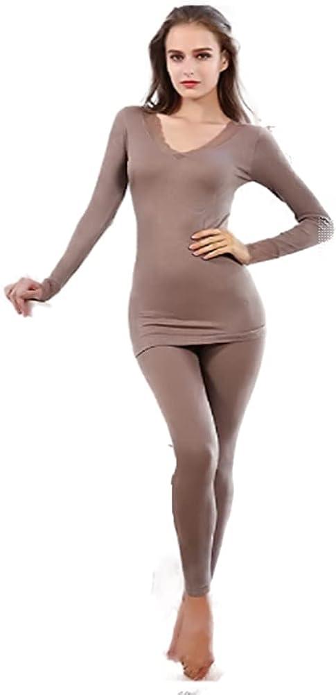 Women's Bamboo Fiber Bottoming Shirt Seamless Body Underwear 37 Degree Constant Temperature Long Sleeve Thermal Underwear