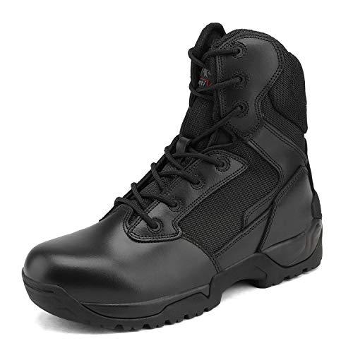 NORTIV 8 Men's Military Tactical Boots Side Zip Work Boots Black Size 12 M US Speedman
