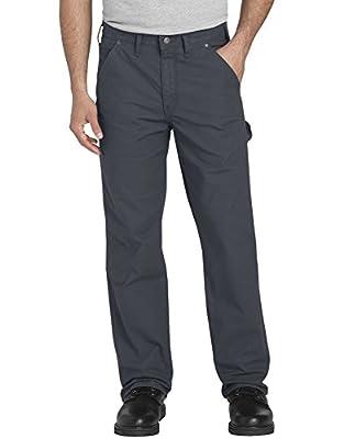 Dickies Men's Tough Max Ripstop Carpenter Pant, Rinsed Diesel Gray, 42 32