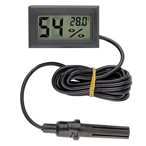 XQxiqi689sy Mini-Thermometer, Hygrometer, Temperatur, Luftfeuchtigkeitsmesser Einheitsgröße Schwarz