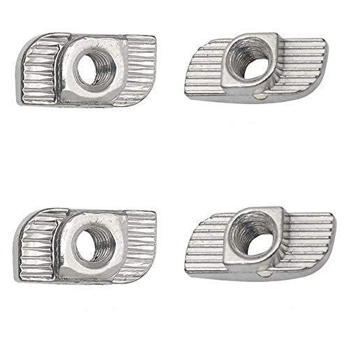 Qixuer 60 Piezas de Martillo con Ranura en T,M5 Sujetador de Acero Al Carbono Chapado En Zinc y 60 Piezas M5 Tornillos de Cabeza Hexagonal de Acero Inoxidable para Perfiles de ExtrusióN de Aluminio