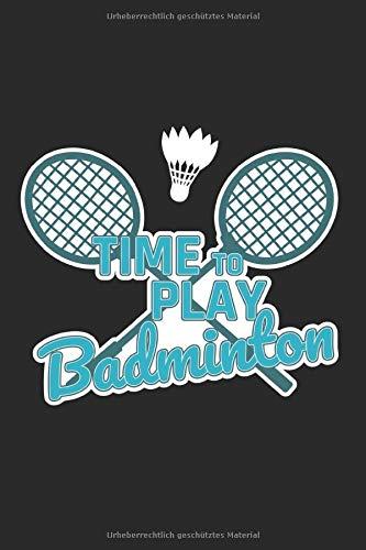 Notizbuch: Badminton Federball A5 Notebook liniert I Geschenk für Spieler Team und Mannschaft I Tagebuch Journal Notizheft für Training und Wettkampf
