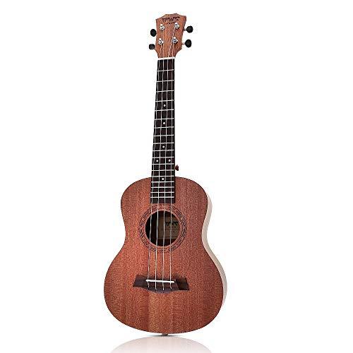 Ukelele 26 Pulgadas Madera De Caoba 18 Trastes Ukelele Tenor Guitarra Acústica Cortada Madera De Caoba Ukelele Hawaii 4 Cuerdas Guitarra