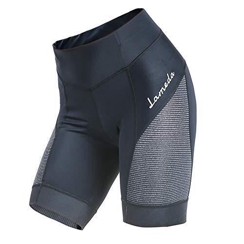 GodUp Fahrradhose Damen gepolstert Kurze Radlerhose Fahrrad Shorts für Radsport Downhill MTB (2XL, Schwarz)