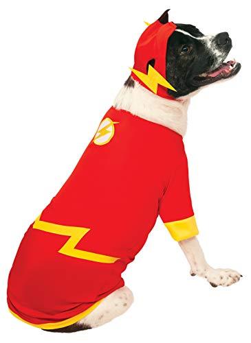 Rubies kostuum DC helden en schurken collectie huisdier kostuum-flash, L, Rood