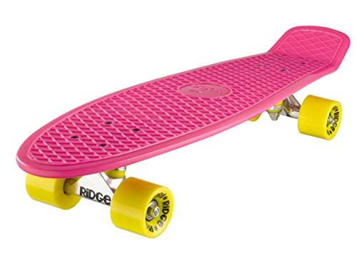 Ridge Retro 27 Skateboard, Unisex, Rosa/Amarillo, 69 cm