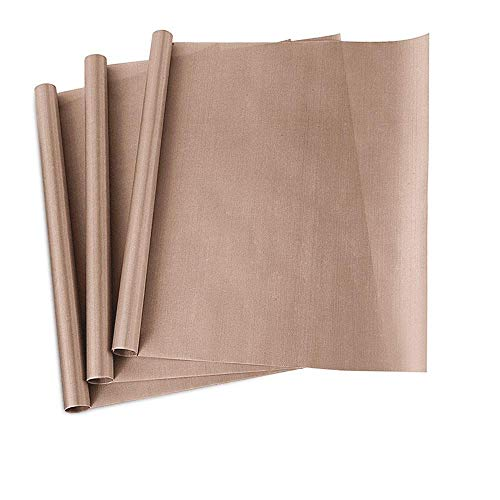 """PTFE Teflon Sheet, 3-Pack Teflon Sheet for Heat Press Transfers, 16 x 20"""" Heat Resistant Craft Sheet, 100% Non Stick Protects Iron and Work Area (3pack-New)"""