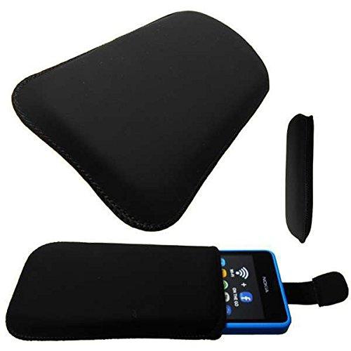 caseroxx Slide-Etui für Nokia Asha 210, Tasche (Slide-Etui in schwarz)