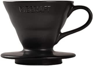 Mecraft Ceramic Pour Over Coffee Dripper Coffee Maker for 1-2 Cups Single Brew Serve Cone Shape Giftbox Size 01(matte black)