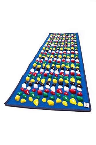 Orthopädische Fußmatte für Kinder, mit Massageeffekt, Kieselsteine, Blau, 100 x 40 cm