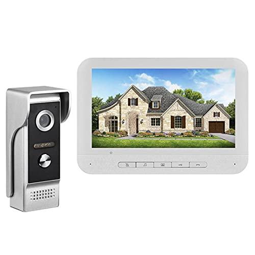 HXXXIN Sistema de Control de Acceso del intercomunicador del Edificio del Timbre del Video del intercomunicador de 7 Pulgadas