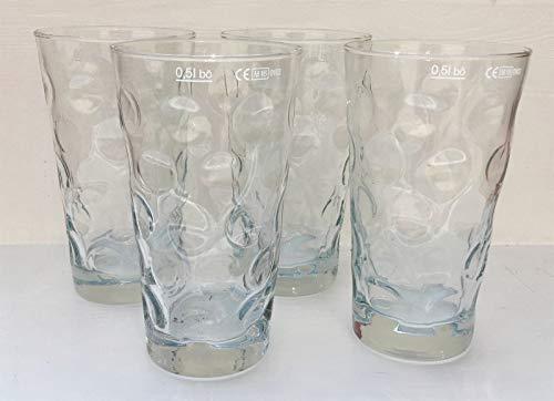 4 Stück Premium Dubbeglas für Schoppen 0,5 L Schoppenglas zum Genuss von Pfälzer Wein, Schorle oder Riesling original Pfalz Dubbegläser