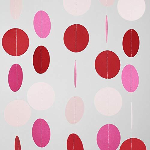 PaperLanternStore.com Pink Ombre Paper Circle Garland
