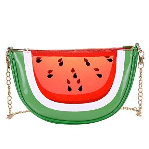 QZUnique Women's PU & Transparent Medium Cute Fruit Style Handbag Purse Shoulder Bag