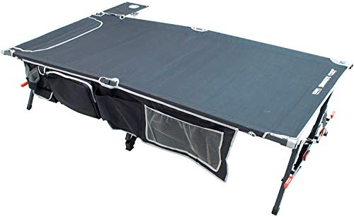 Rio Brands Gear Smart Cot XXL Outdoor No End Bar Portable Camping Cot, Black