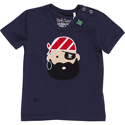 Fred'S World By Green Cotton Sailor Pirate T Baby T-Shirt, Bleu Marine (019392001), 3 Mois Bébé garçon