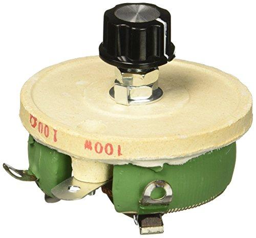 100W 100 Ohm Ceramic Wirewound Potentiometer Rotary Resistor Rheostat