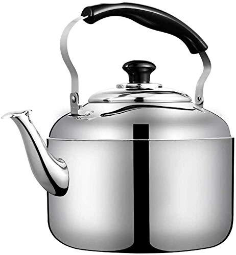 Bouilloire induction Cuisinière à induction Bouilloire 304 Acier inoxydable Son portant grande capacité Bouilloire ménagère Siffleuse à gaz de gaz Thésieuse à gaz WHLONG (Size : 4L)