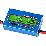 Makerfire RC Watt Meter, 100A 60V High Accuracy Digital LCD Watt Tester Power Meter Analyzer Battery Checker Balance Voltage Consumption Performance Monitor