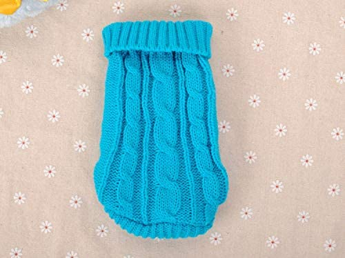 FidgetGear XXXS XXS XS Knitted Dog Sweater Cat Puppy Clothes Jumper for Chihuahua Teacup Blue product image